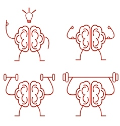 brain power vector image