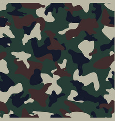 Camouflage seamless color pattern vector