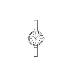 classic analog women wrist watch line icon clock vector image