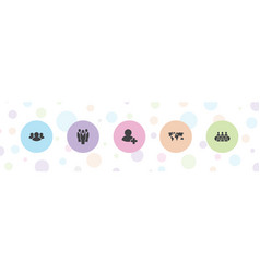 Community icons vector