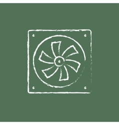Computer cooler icon drawn in chalk vector image