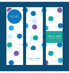 Connected dots vertical banners set pattern vector