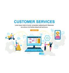 Customer service online store vector