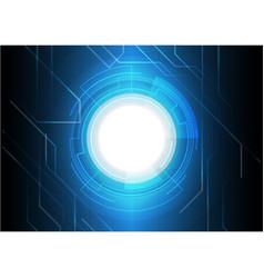 dark blue electronic technology background vector image