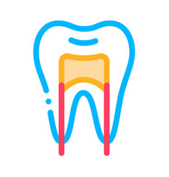 Dental x-ray image stomatology sign icon vector