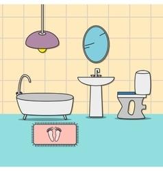Design of room - bathroom vector image