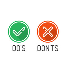 do and dont check icons vector image
