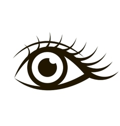 Female eye isolated on white vector
