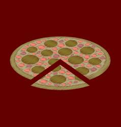 flat shading style icon pizza vector image