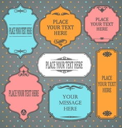 frames design vintage color vector image