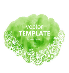 fresh spring template with text and flowers vector image