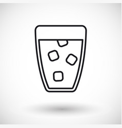 glass of water thin line web icon vector image
