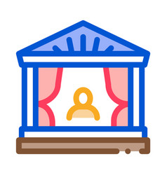 Greek ancient theater icon outline vector
