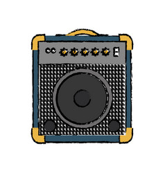 Guitar amplifier icon vector
