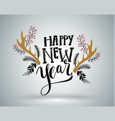 happy new year lettering element for new year vector image