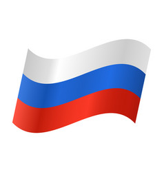 icon of a russian flag vector image