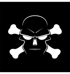 Icon skull and crossbones - a mark of the danger vector image