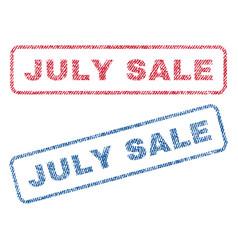july sale textile stamps vector image