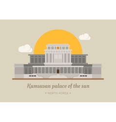 Kumsusan palace of the sun North Korea eps10 v vector