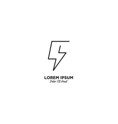 Letter b flash logo design vector