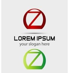 Letter Z logo icon design template elements vector image