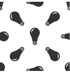 light bulb icon seamless pattern vector image
