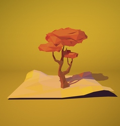 Low poly autumn tree vector