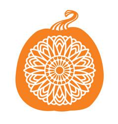 Mandala pumpkin vector