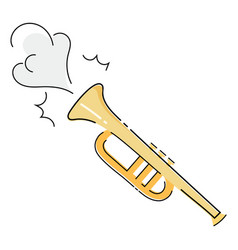 musical pipe that makes a sound a vector image