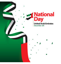 National day united arab emirates template design vector