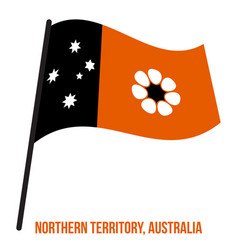 Northern territory nt flag waving on white vector