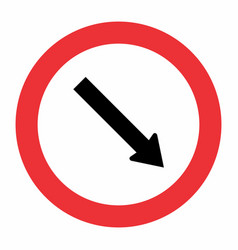 obligatory passage traffic sign vector image