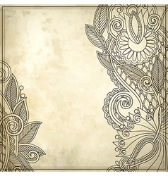 Ornamental floral pattern with place for your text vector image