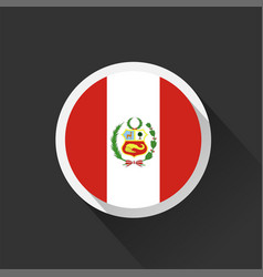 peru national flag on dark background vector image
