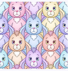 rabbits seamless background vector image