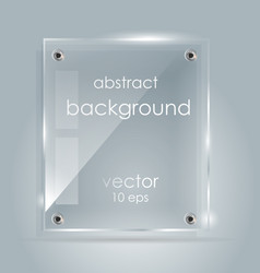 rectangular glass plate with a place for vector image