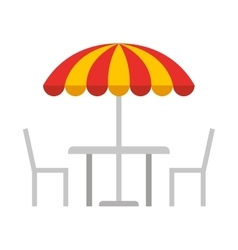 restauran table fast food vector image
