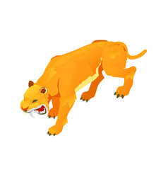 sabre toothed tiger vector image