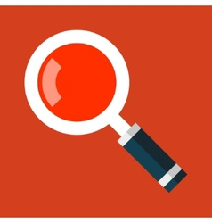 Search Magnifying Glass Icon in Flat Style vector image
