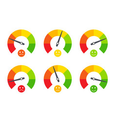 set business indicators emotional emoticons vector image
