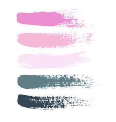 set grunge brush strokes set of vector image