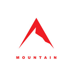 simple mountain icon with linear style vector image