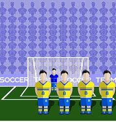 Sweden soccer club penalty on a stadium vector