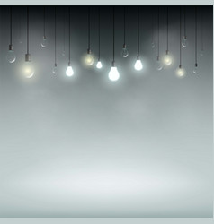 technology background with light bulbs vector image