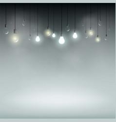Technology background with light bulbs vector