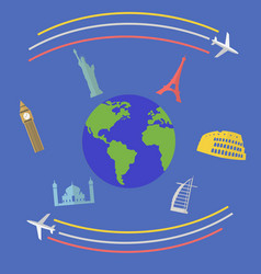 travel around world concept vector image