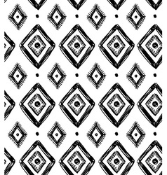 tribal seamless pattern with rhombuses Geometric vector image