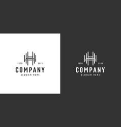 triple h letter initials logo design vector image