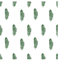 tropical background with palm leaves seamless vector image