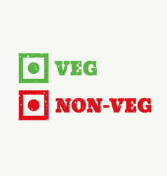Veg and non-veg sign vector